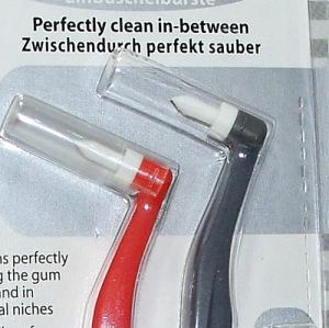 Mini Zahnbürste Einbüschen Zahnzwischenraum