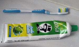 Zahnpasta sehr frischer Geschmack, gründlich